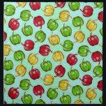 "Bell Peppers Pattern Cloth Napkins<br><div class=""desc"">Features my original bell pepper pattern.</div>"