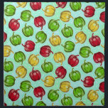"Bell Peppers Pattern Cloth Napkins<br><div class=""desc"">Features my original bell pepper pattern.</div>"