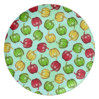 Bell Peppers Pattern Plate