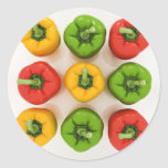 Bell Peppers Stickers Round Sticker