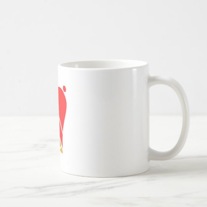 Bell Red Left Inv 45 deg The MUSEUM Zazzle Gifts Coffee Mug
