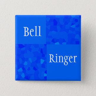 Bell Ringer - Blue Mosaic Button