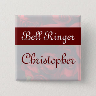 """""""Bell Ringer"""" - Red Rose Bouquet (2b) Button"""