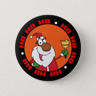 Bell Ringing Black Santa Claus Button