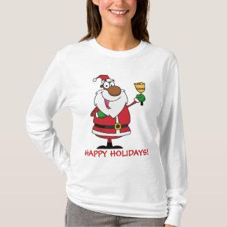Bell Ringing Black Santa Claus T-Shirt