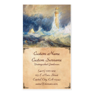 Bell Rock Lighthouse Joseph Mallord William Turner Double-Sided Standard Business Cards (Pack Of 100)