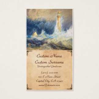 Bell Rock Lighthouse Joseph Mallord William Turner Business Card