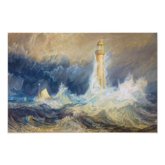 Bell Rock Lighthouse Joseph Mallord William Turner Poster