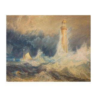Bell Rock Lighthouse Joseph Mallord William Turner Wood Print