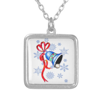 Bell & Snowflakes Necklace - Sterling Silver