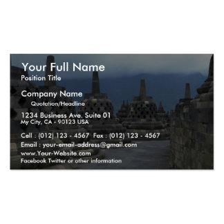 Bell structures, Borobudur, Java, Indonesia Business Card Templates