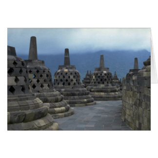 Bell structures, Borobudur, Java, Indonesia Greeting Cards
