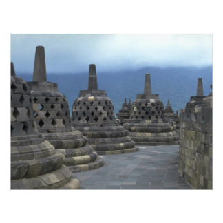 Bell structures, Borobudur, Java, Indonesia Flyers