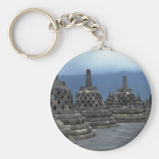 Bell structures, Borobudur, Java, Indonesia Key Chain