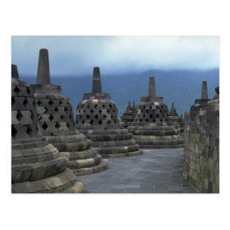 Bell structures, Borobudur, Java, Indonesia Post Card