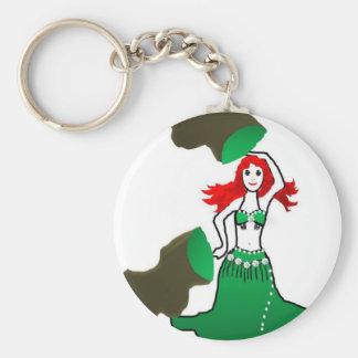 bell the belly dancer green mermaid sereia keychain