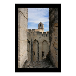 Bell Tower at Avignon Poster