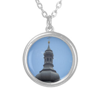 Bell tower Castelrotto Silver Plated Necklace