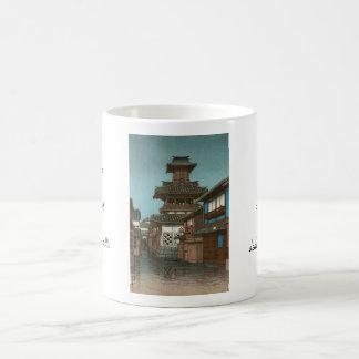 Bell Tower in Okayama Hasui Kawase shin hanga Classic White Coffee Mug