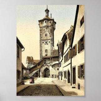 Bell tower (klingen Tor), Rothenburg (i.e. ob der Posters