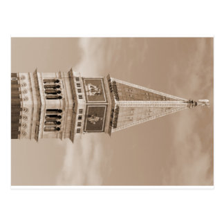 bell tower of Sain Mark in Venice in Italy Postcard