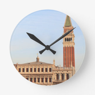 Bell Tower, Piazza San Marco, Venice Round Wall Clocks