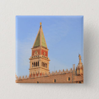 Bell Tower, Piazza San Marco, Venice, Italy Pinback Button