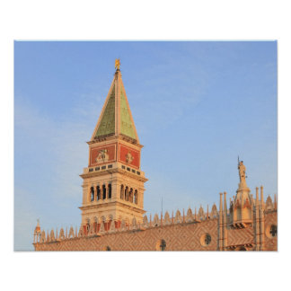 Bell Tower, Piazza San Marco, Venice, Italy Poster