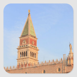 Bell Tower, Piazza San Marco, Venice, Italy Square Sticker