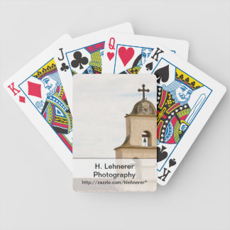 Bell Tower Santa Barbara Mission Bicycle Playing Cards