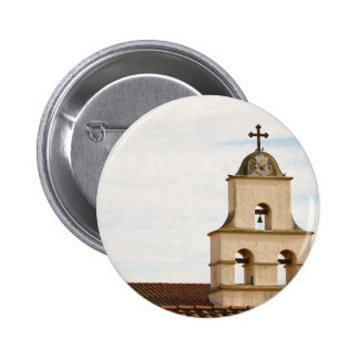 Bell Tower Santa Barbara Mission Pinback Buttons