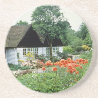 Bell Tower With Papaver Oriental Poppy Drink Coasters