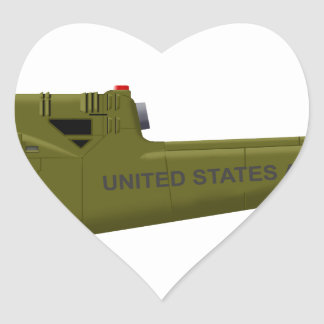 Bell UH-1 Centaur Heart Sticker