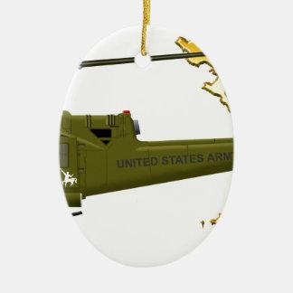 Bell UH-1 Huey Centaur with Vietnam Image Ceramic Ornament