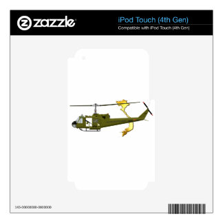 Bell UH-1 Huey Centaur with Vietnam Image iPod Touch 4G Skin