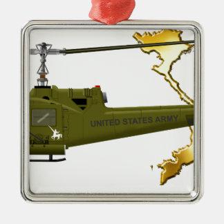 Bell UH-1 Huey Centaur with Vietnam Image Metal Ornament