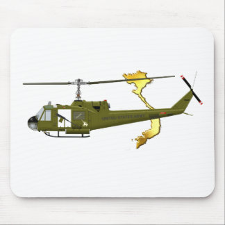 Bell UH-1 Huey Centaur with Vietnam Image Mouse Pad