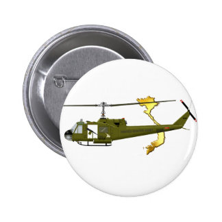 Bell UH-1 Huey Centaur with Vietnam Image Pinback Button