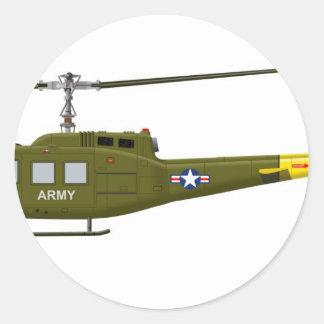 Bell UH-1D Iroquois Classic Round Sticker