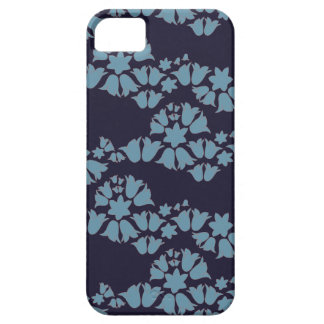 bell wave blue bells on navy iPhone 5 cases