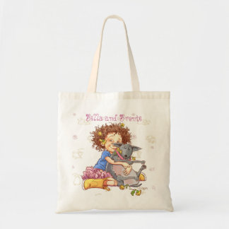 Bella and Bronte (with Bronte background) Canvas Bags