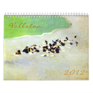 Bella arte 2012 del vintage de la selección de Fél Calendario