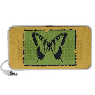 Bella arte 2 de la mariposa del vintage iPod altavoz