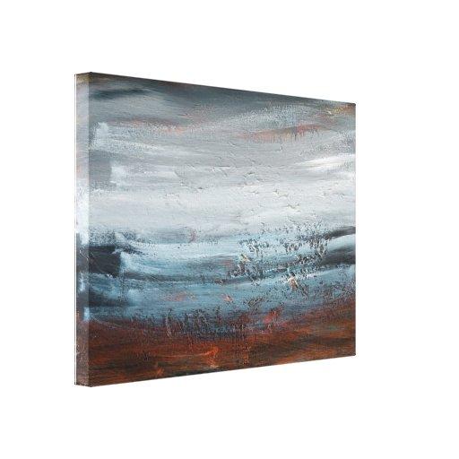 Bella arte abstracta del paisaje lona envuelta para galerías