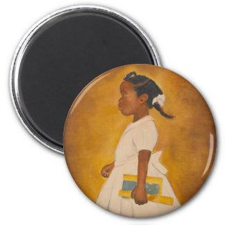 Bella arte afroamericana imán redondo 5 cm