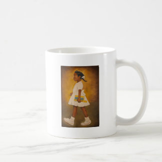 Bella arte afroamericana taza básica blanca