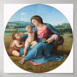 Bella arte Alba de Raphael Madonna Impresiones