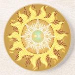 Bella arte azteca de la fantasía de Sun Posavasos Personalizados