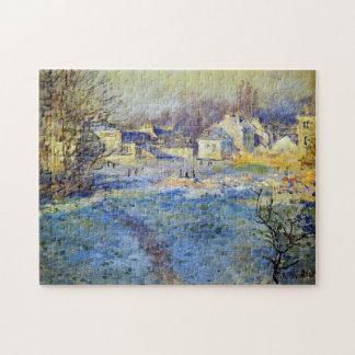 Bella arte blanca de Frost Monet Puzzle