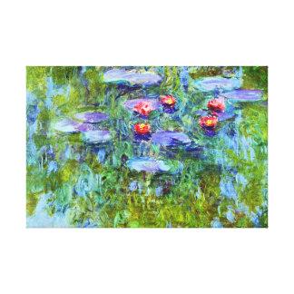 Bella arte clásica de Monet de la charca del lirio